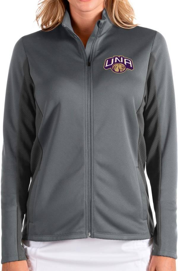 Antigua Women's North Alabama  Lions Grey Passage Full-Zip Jacket product image