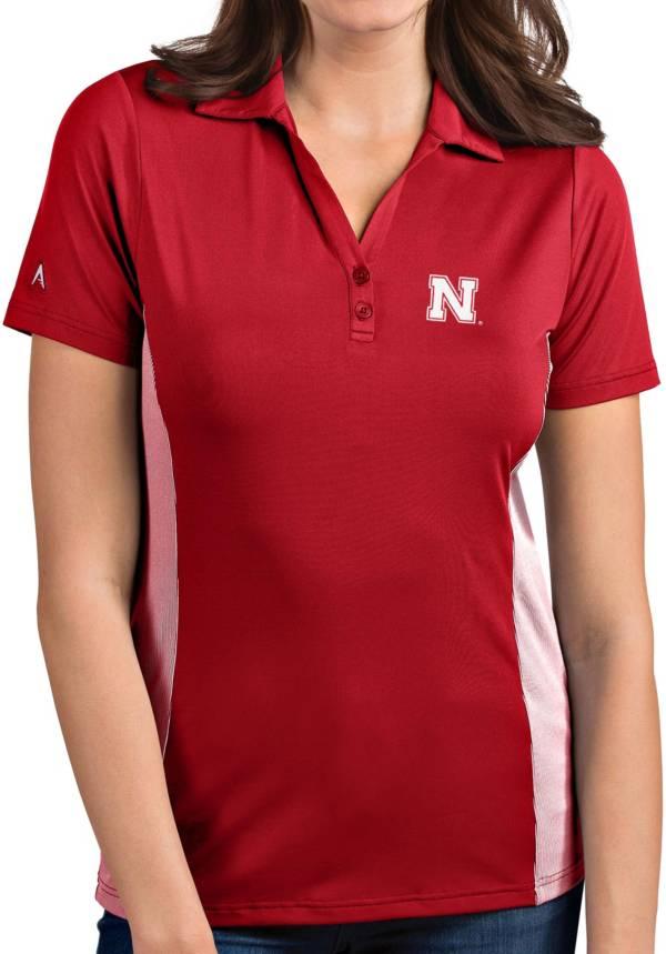 Antigua Women's Nebraska Cornhuskers Scarlet Venture Polo product image