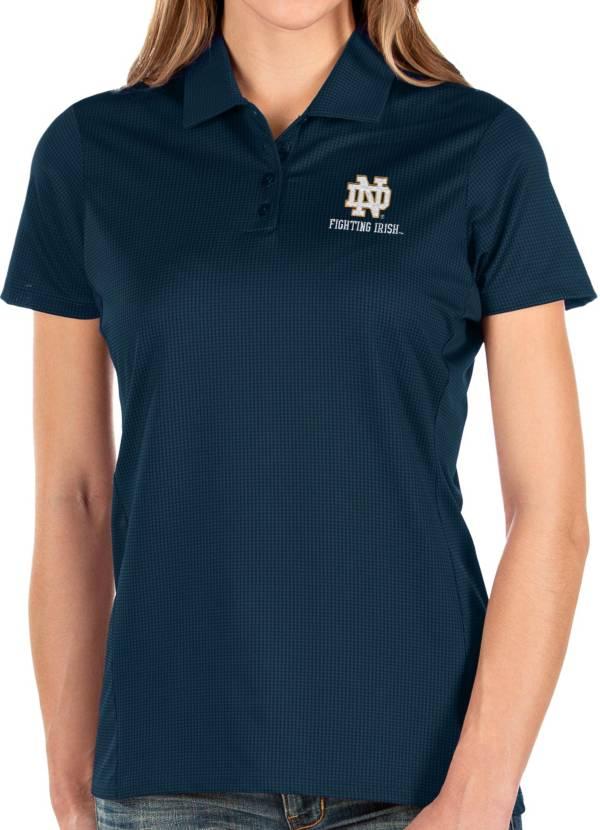 Antigua Women's Notre Dame Fighting Irish Navy Balance Polo product image