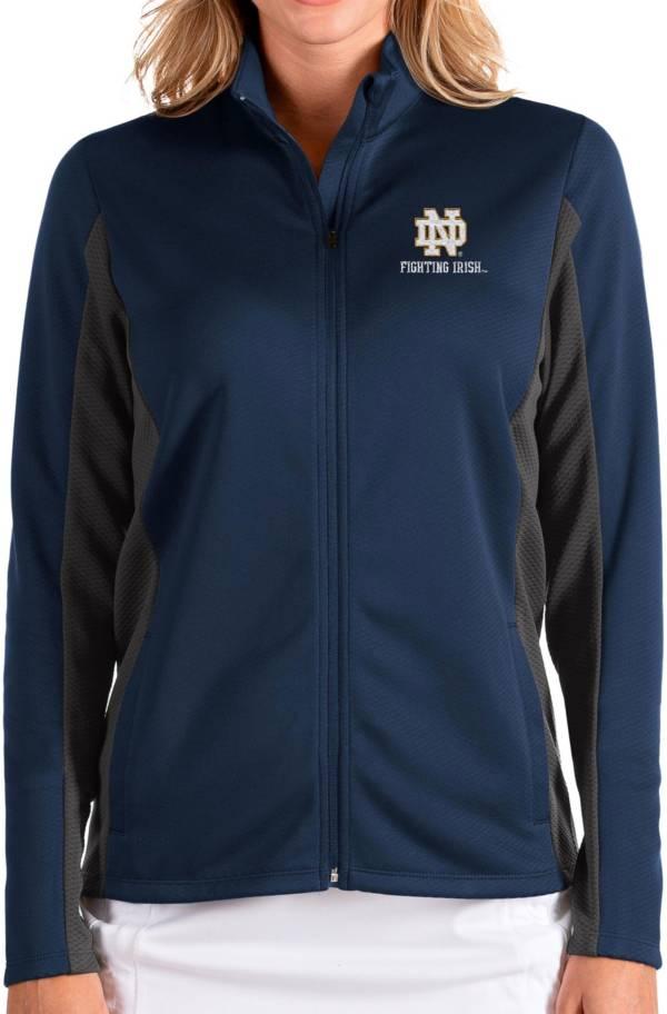 Antigua Women's Notre Dame Fighting Irish Navy Passage Full-Zip Jacket product image