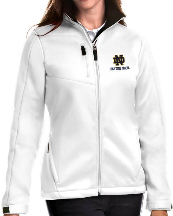 Antigua Women's Notre Dame Fighting Irish Traverse Full-Zip White Jacket product image