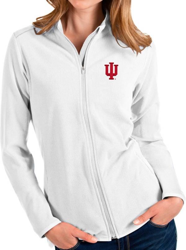 Antigua Women's Indiana Hoosiers Glacier Full-Zip White Jacket product image