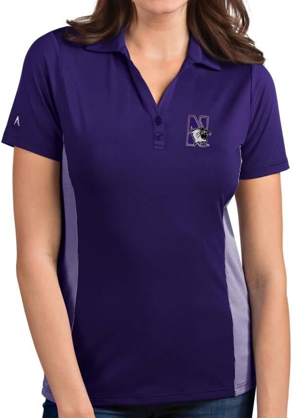 Antigua Women's Northwestern Wildcats Purple Venture Polo product image