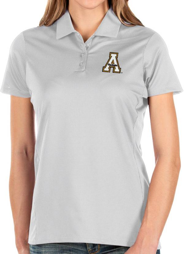 Antigua Women's Appalachian State Mountaineers Balance White Polo product image