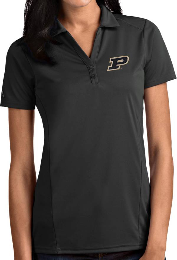 Antigua Women's Purdue Boilermakers Grey Tribute Performance Polo product image