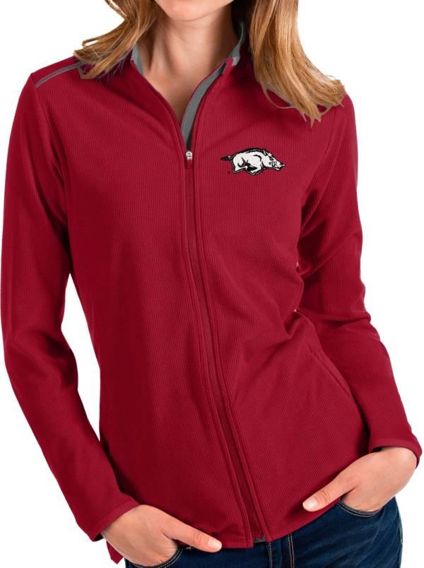 Antigua Women's Arkansas Razorbacks Cardinal Glacier Full-Zip Jacket product image