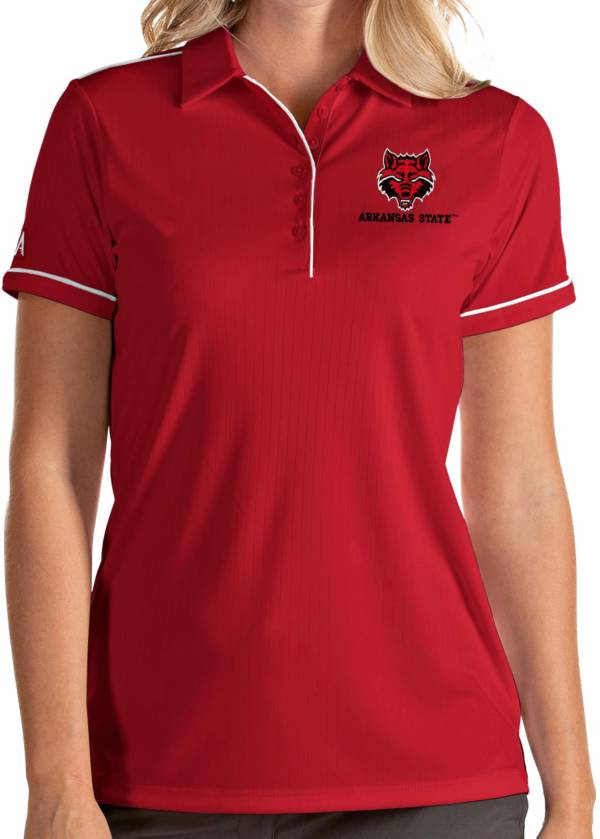Antigua Women's Arkansas State Red Wolves Scarlet Salute Performance Polo product image
