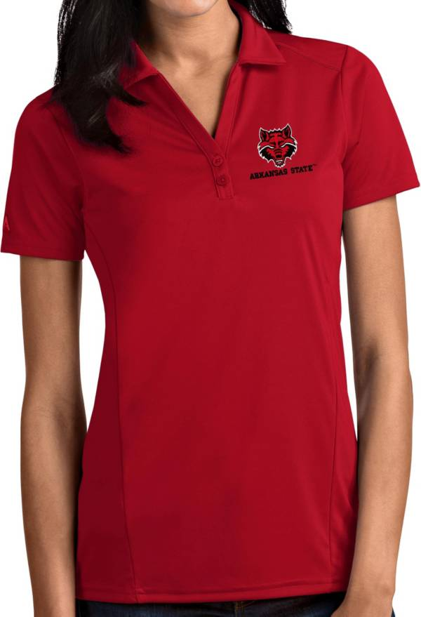 Antigua Women's Arkansas State Red Wolves Scarlet Tribute Performance Polo product image