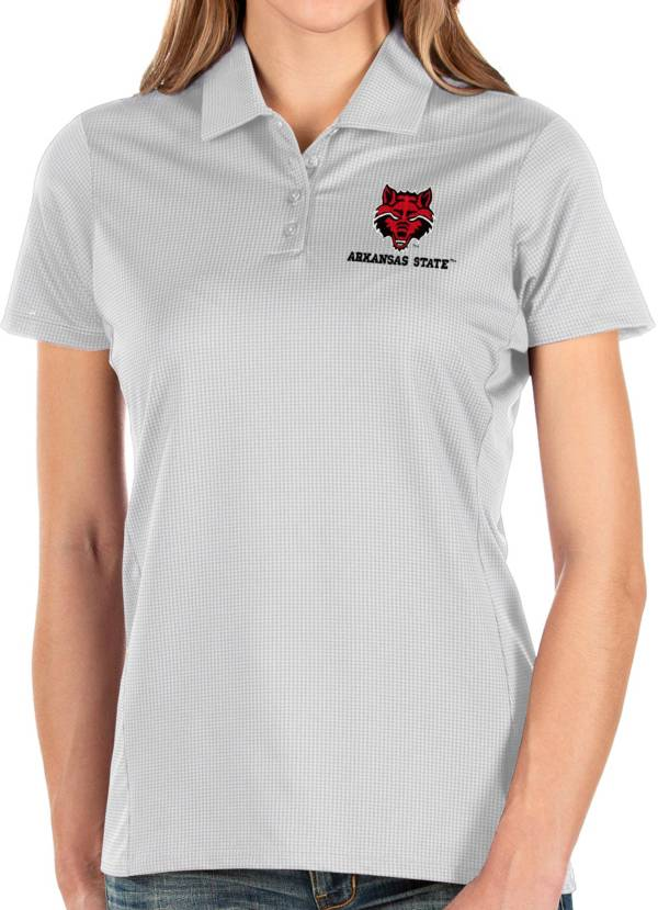 Antigua Women's Arkansas State Red Wolves Balance White Polo product image
