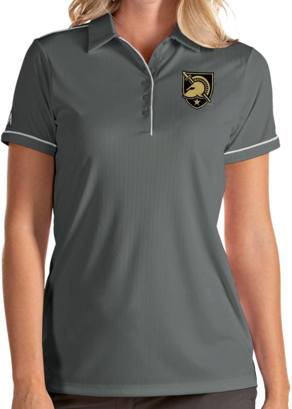 Antigua Women's Army West Point Black Knights Grey Salute Performance Polo product image