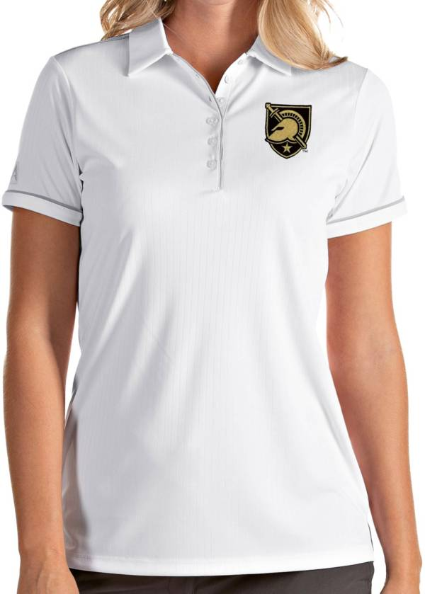 Antigua Women's Army West Point Black Knights Salute Performance White Polo product image