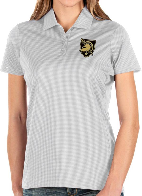 Antigua Women's Army West Point Black Knights Balance White Polo product image