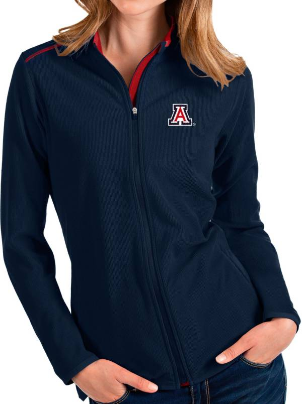 Antigua Women's Arizona Wildcats Navy Glacier Full-Zip Jacket product image