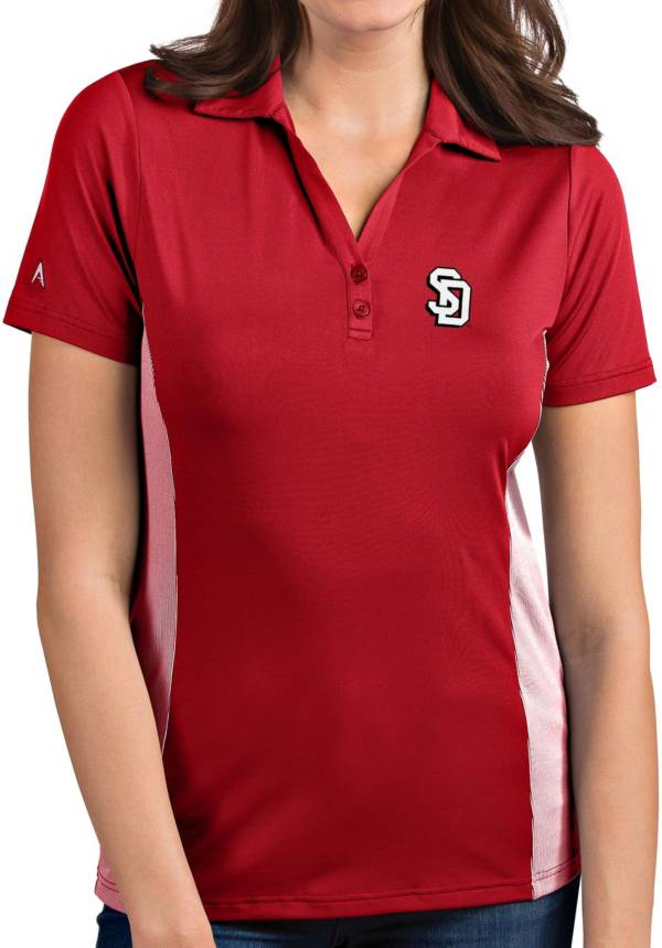 Antigua Women's South Dakota Coyotes Red Venture Polo product image