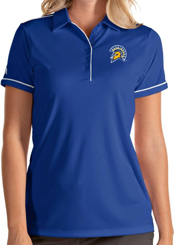 Antigua Women's San Jose State  Spartans Blue Salute Performance Polo product image