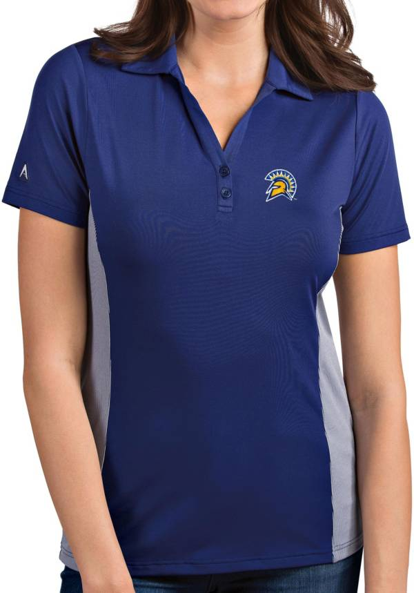 Antigua Women's San Jose State  Spartans Blue Venture Polo product image