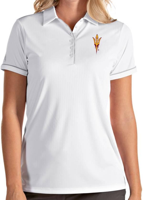 Antigua Women's Arizona State Sun Devils Salute Performance White Polo product image