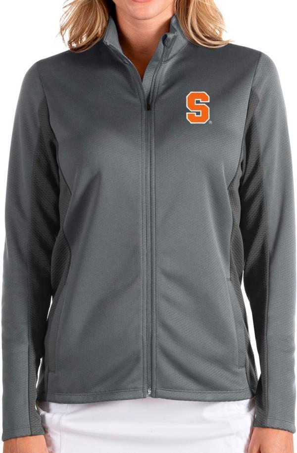 Antigua Women's Syracuse Orange Grey Passage Full-Zip Jacket product image