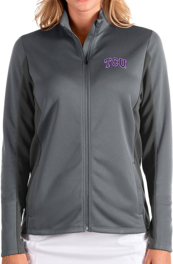 Antigua Women's TCU Horned Frogs Grey Passage Full-Zip Jacket product image
