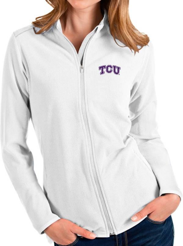 Antigua Women's TCU Horned Frogs Glacier Full-Zip White Jacket product image