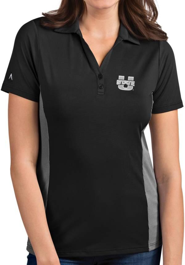 Antigua Women's Utah State Aggies Grey Venture Polo product image