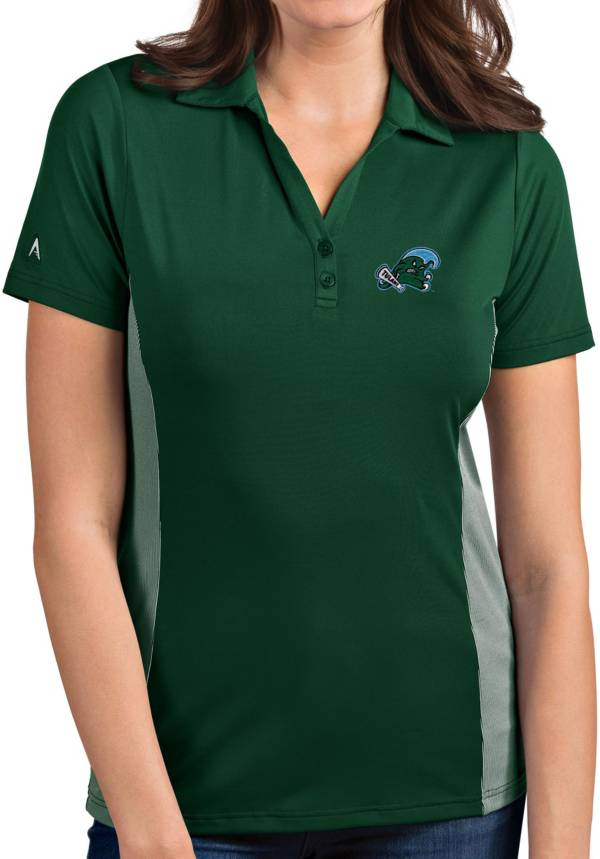 Antigua Women's Tulane Green Wave Olive Venture Polo product image