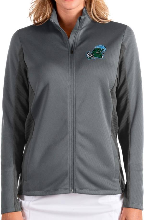 Antigua Women's Tulane Green Wave Grey Passage Full-Zip Jacket product image