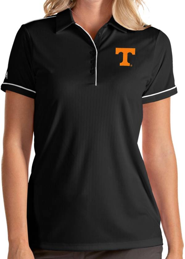 Antigua Women's Tennessee Volunteers Salute Performance Black Polo product image
