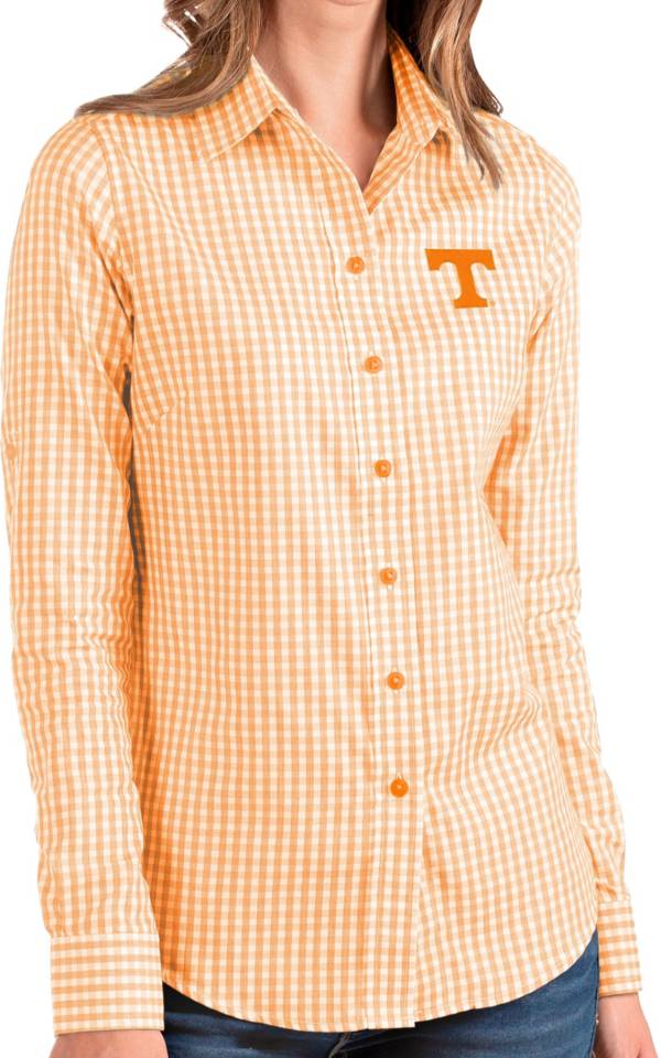 Antigua Women's Tennessee Volunteers Tennessee Orange Structure Button Down Long Sleeve Shirt product image