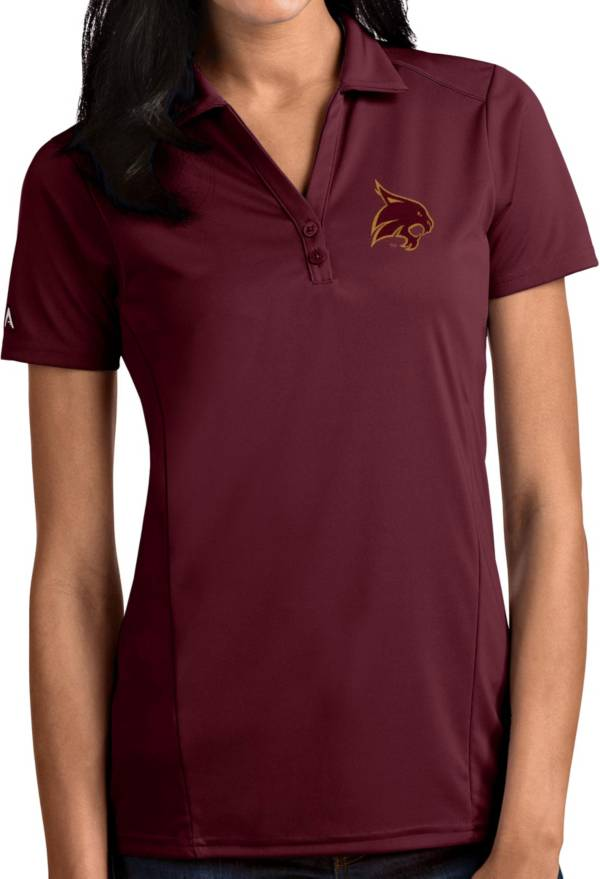 Antigua Women's Texas State Bobcats Maroon Tribute Performance Polo product image