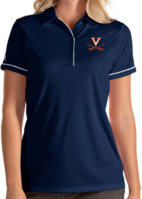 Antigua Women's Virginia Cavaliers Blue Salute Performance Polo product image