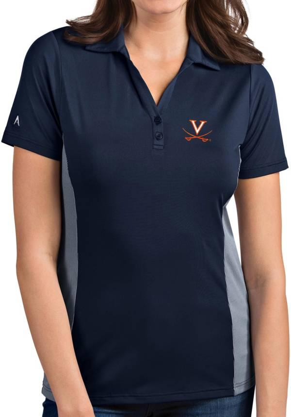 Antigua Women's Virginia Cavaliers Blue Venture Polo product image