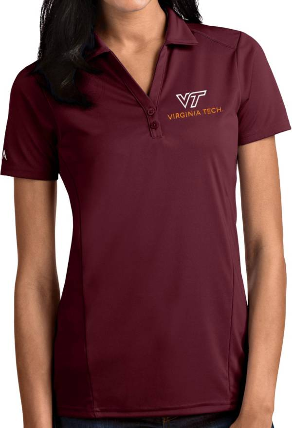Antigua Women's Virginia Tech Hokies Maroon Tribute Performance Polo product image