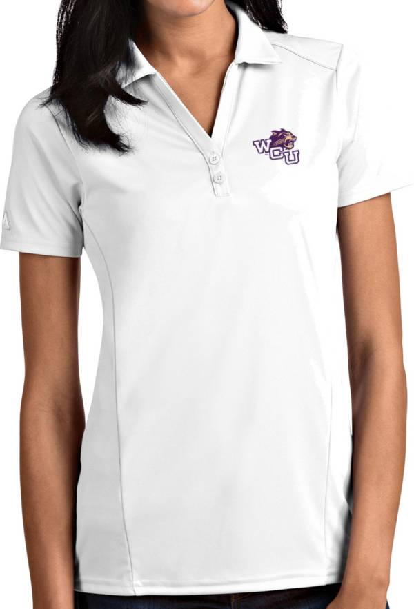 Antigua Women's Western Carolina Catamounts White Tribute Performance Polo product image