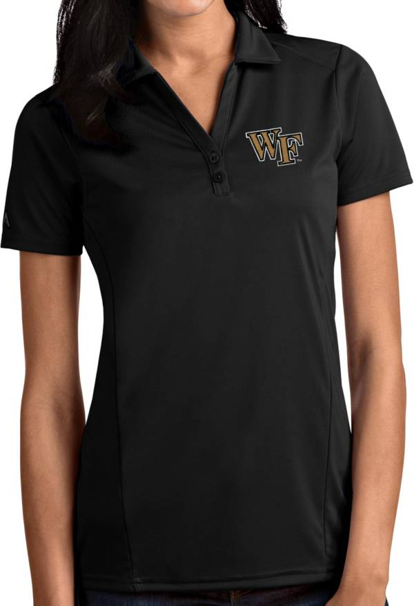 Antigua Women's Wake Forest Demon Deacons Tribute Performance Black Polo product image