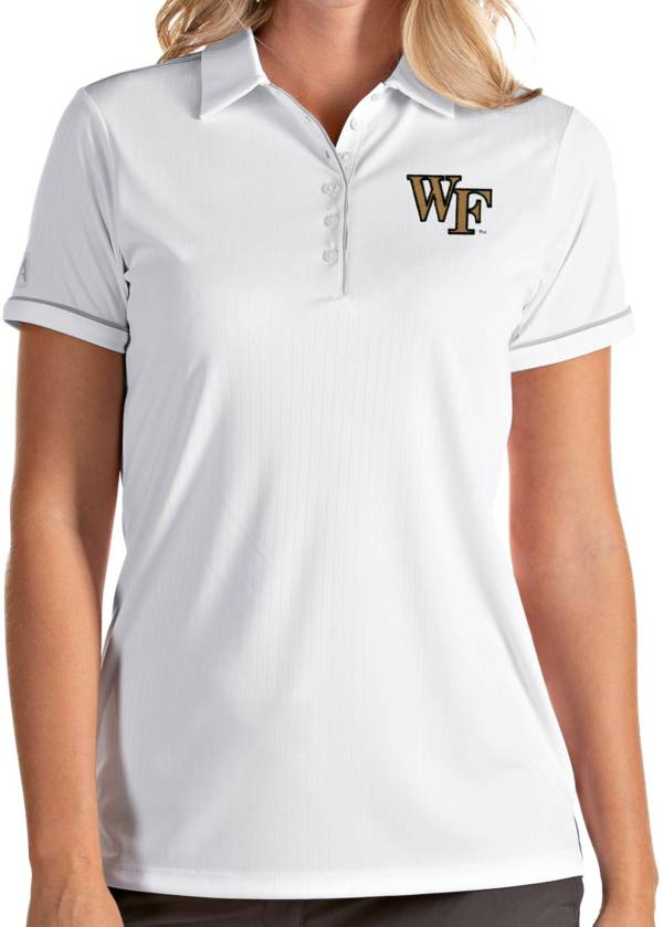 Antigua Women's Wake Forest Demon Deacons Salute Performance White Polo product image