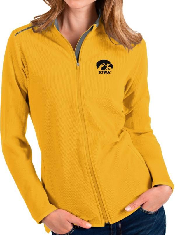 Antigua Women's Iowa Hawkeyes Gold Glacier Full-Zip Jacket product image