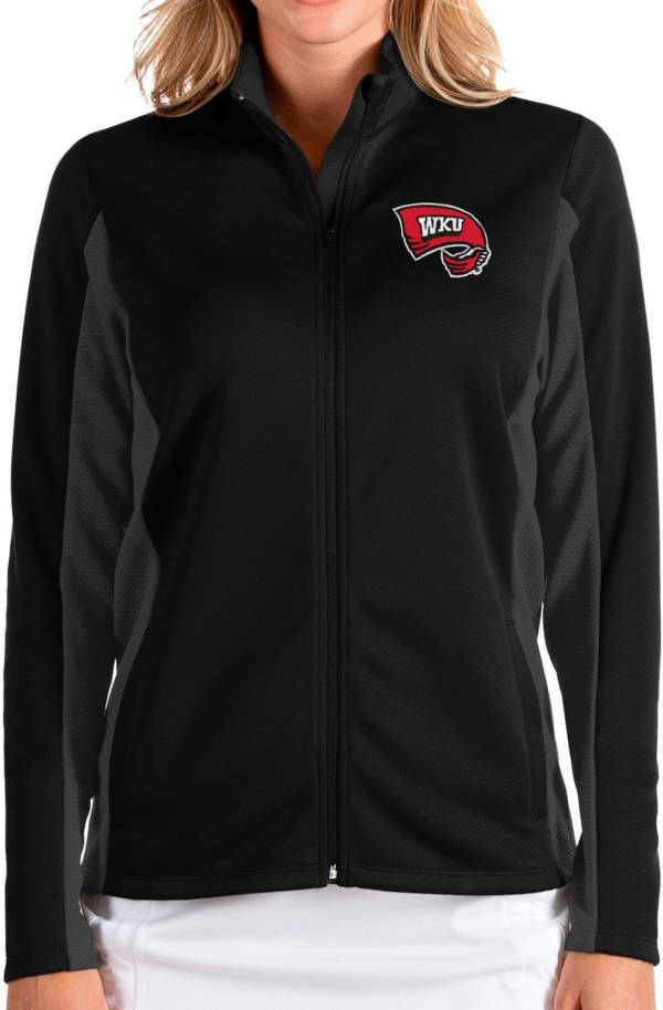 Antigua Women's Western Kentucky Hilltoppers Passage Full-Zip Black Jacket product image
