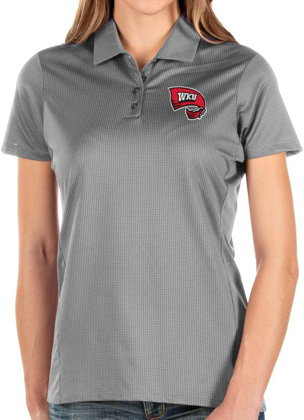 Antigua Women's Western Kentucky Hilltoppers Grey Balance Polo product image