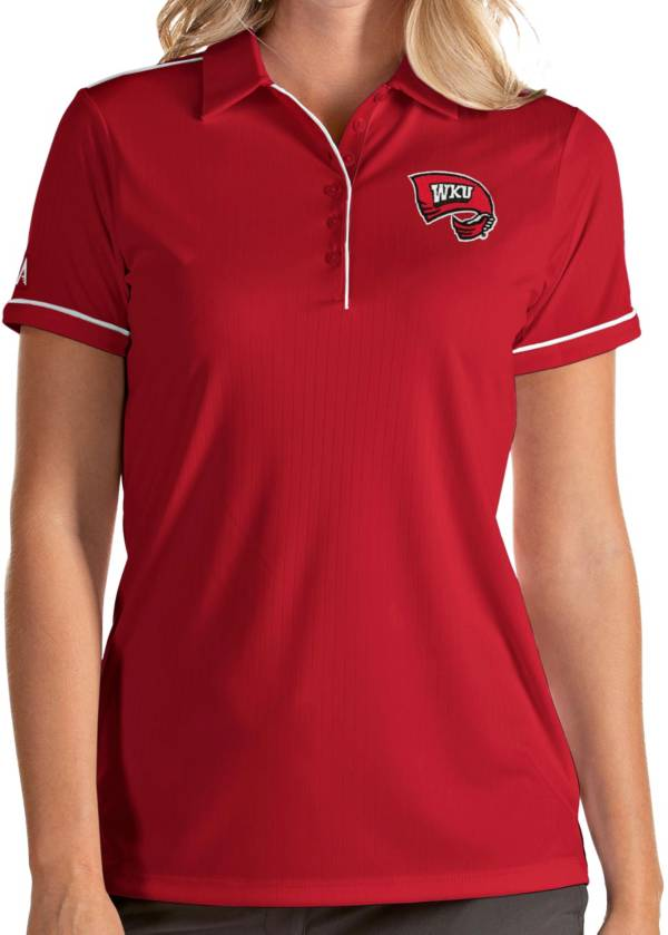 Antigua Women's Western Kentucky Hilltoppers Red Salute Performance Polo product image
