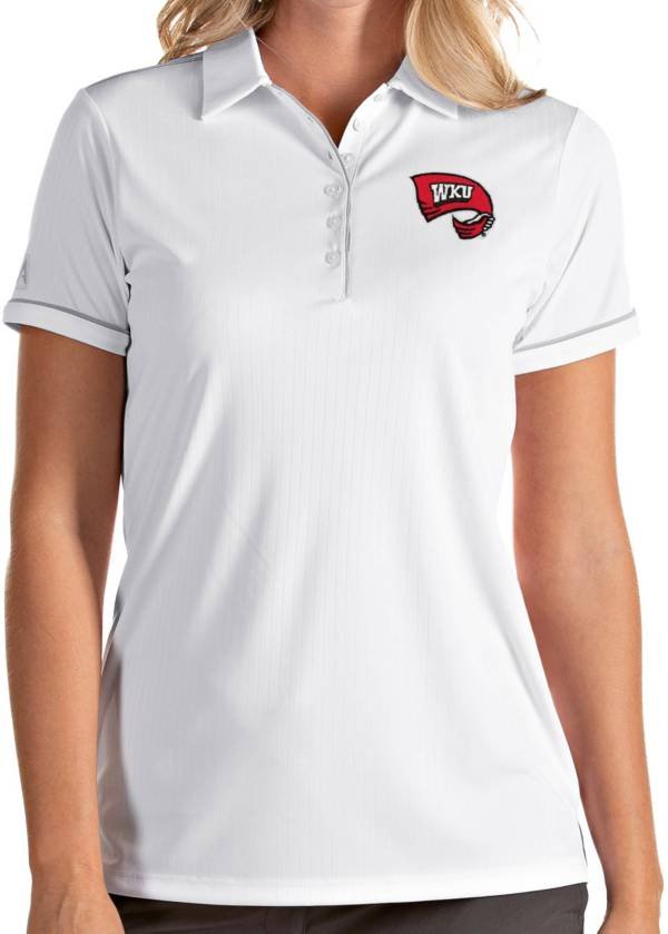 Antigua Women's Western Kentucky Hilltoppers Salute Performance White Polo product image