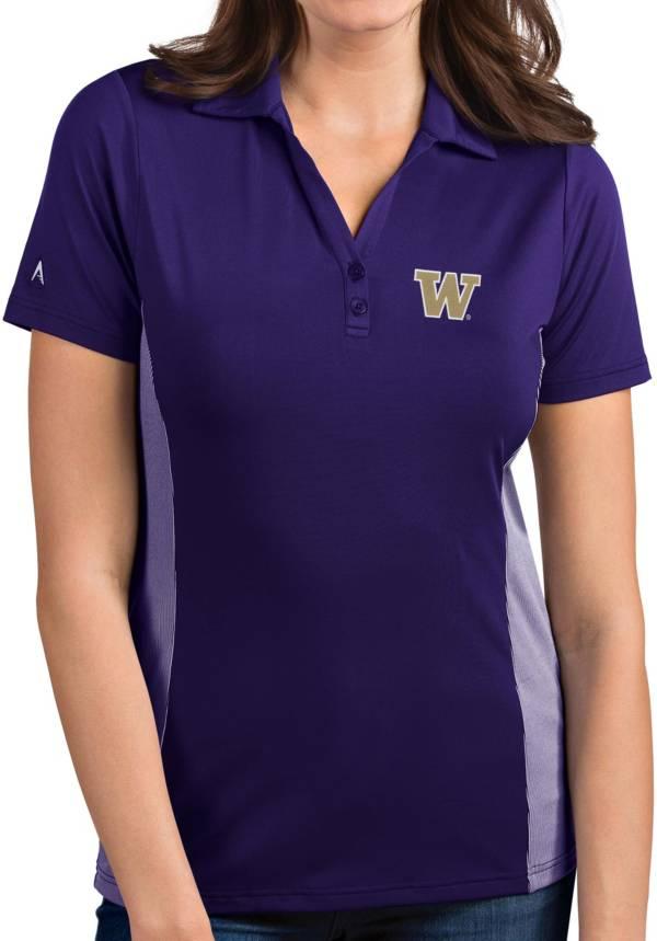 Antigua Women's Washington Huskies Purple Venture Polo product image