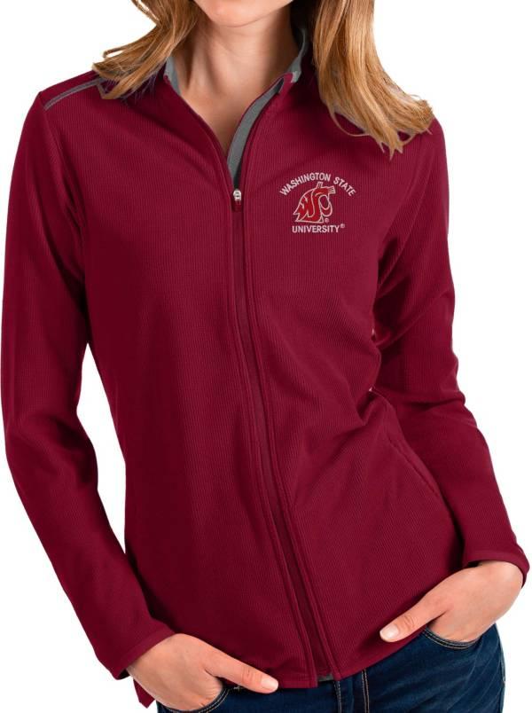 Antigua Women's Washington State Cougars Crimson Glacier Full-Zip Jacket product image