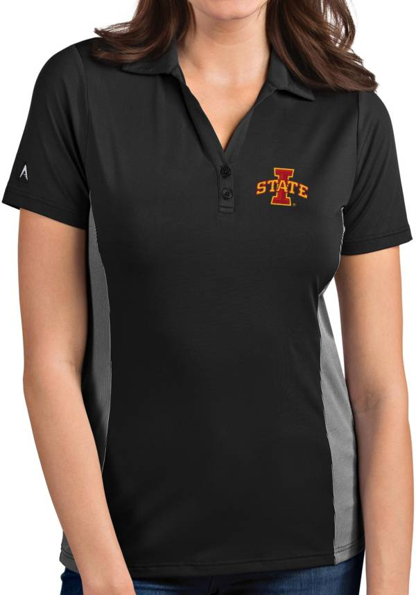 Antigua Women's Iowa State Cyclones Grey Venture Polo product image