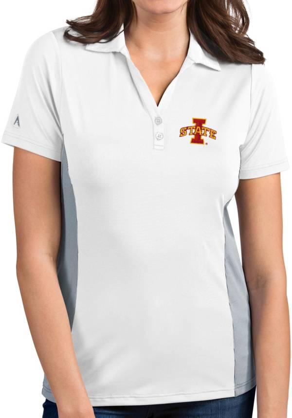 Antigua Women's Iowa State Cyclones Venture White Polo product image