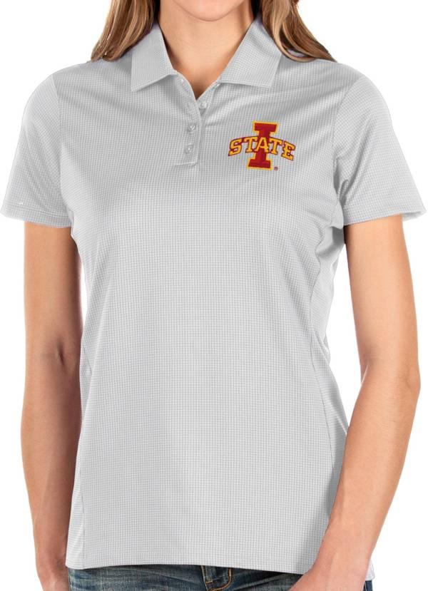 Antigua Women's Iowa State Cyclones Balance White Polo product image