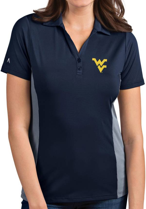 Antigua Women's West Virginia Mountaineers Blue Venture Polo product image
