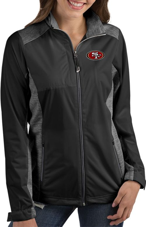 Antigua Women s San Francisco 49ers Revolve Black Full-Zip Jacket.  noImageFound. 1 c85c3453b