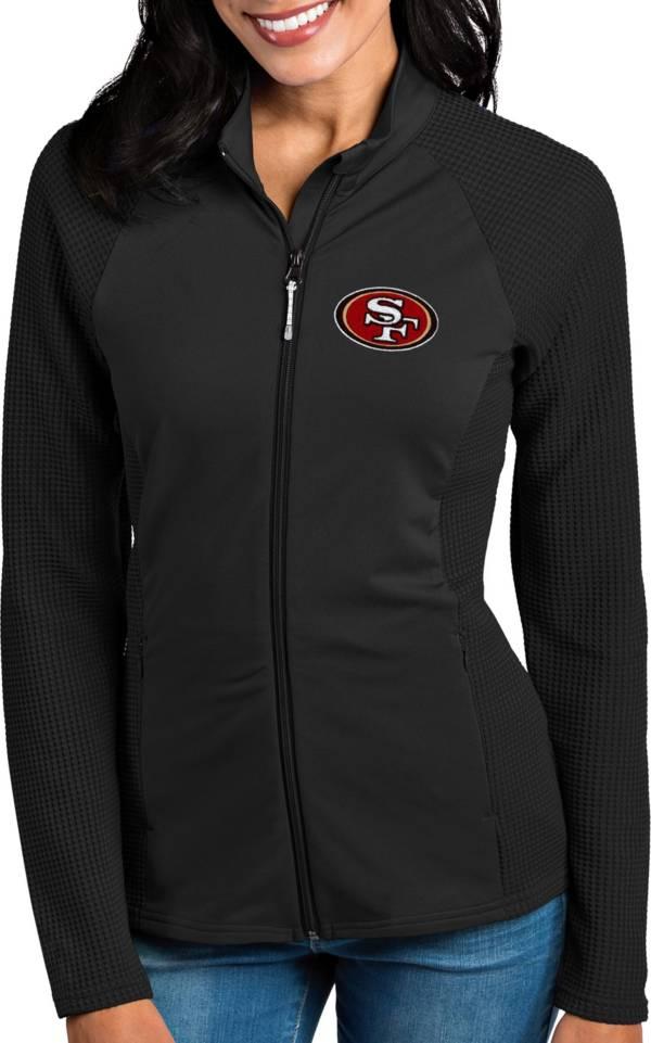 Antigua Women's San Francisco 49ers Sonar Black Full-Zip Jacket product image