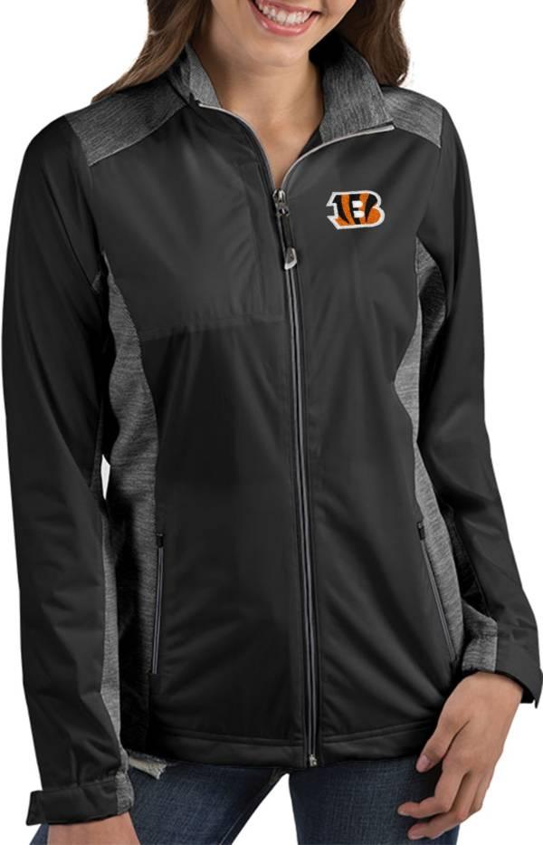 Antigua Women's Cincinnati Bengals Revolve Black Full-Zip Jacket product image